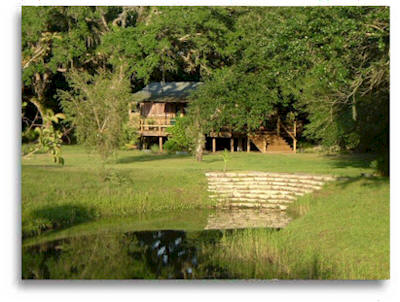Private meditation retreat cabin in natural setting located in central Florida.
